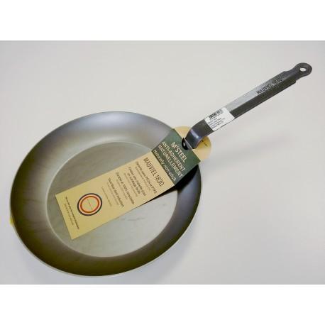 365128 - Mauviel 1830 M'Steel, Тиган, черна въглеродна (карбонова) стомана, диаметър 28 см, дръжка от стомана