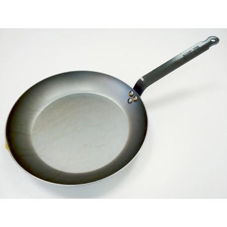 365132 - Mauviel 1830 M'Steel, Тиган, черна въглеродна (карбонова) стомана, диаметър 32 см, дръжка от стомана