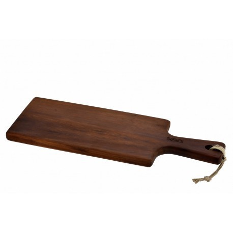 16x46cm, Ироко дървена дъска/плато с дръжка LAVA, правоъгълна (LV AS 294 IR)