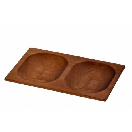 15x24cm, Ироко дървена купа/поднос LAVA (LV AS 413 IR)