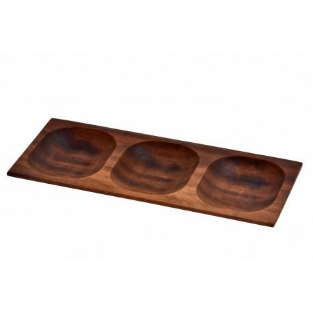 15x35cm, Ироко дървена купа/поднос LAVA (LV AS 414 IR)