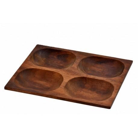 24x29cm, Ироко дървена купа/поднос LAVA (LV AS 415 IR)