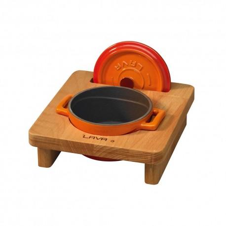Дървена поставка за мини тенджера Ø 10cm (LV AS 102)