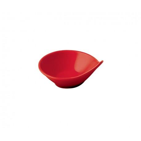 Керамична червена извита купичка за сос (LV SR SK 03-R)