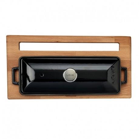LV P EK 826 K44 - Чугунена фурна LAVA за хляб или терин, с дървена поставка