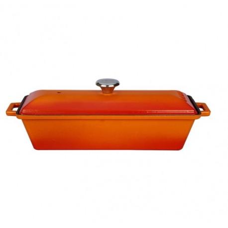 LV P EK 826 - Чугунена LAVA фурна за хляб или терин, цвят оранжев